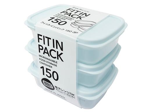 Set 3 hộp nhựa nắp dẻo 150ml (màu xanh Mint) - Hàng Nhật nội địa