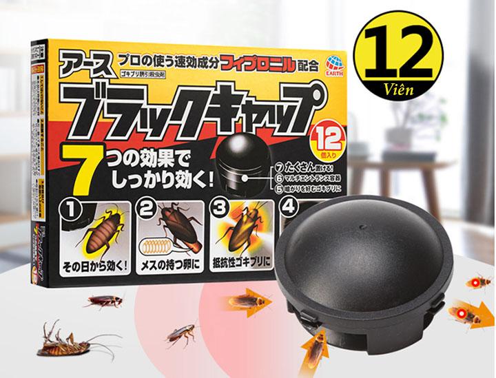 (BIG SALE) Hộp 12 viên thuốc diệt gián an toàn, hiệu quả - Hàng Nhật nội địa