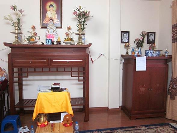 kích thước bàn thờ phật bà quan âm
