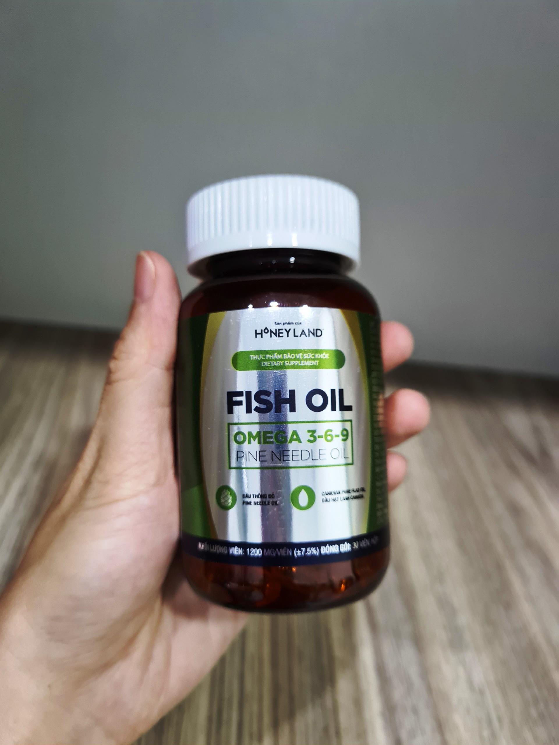 Fish oil Omega 3-6-9 Pine Needle Oil hộp 30 viên