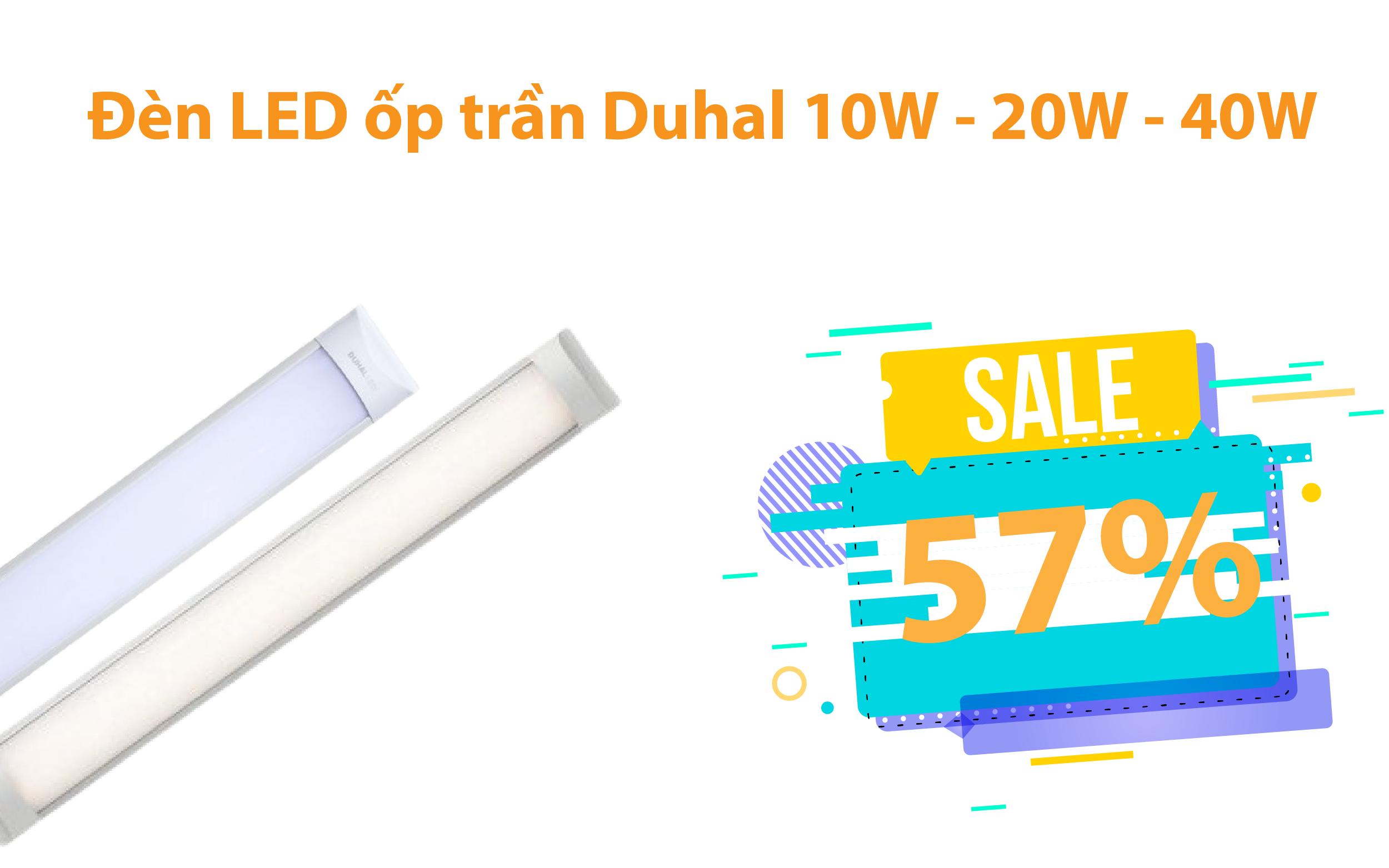 Đèn LED ốp trần Duhal 10W - 20W - 40W giảm từ 52% - 57%