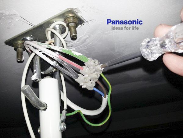 Cách lắp đặt quạt trần Panasonic an toàn chính xác