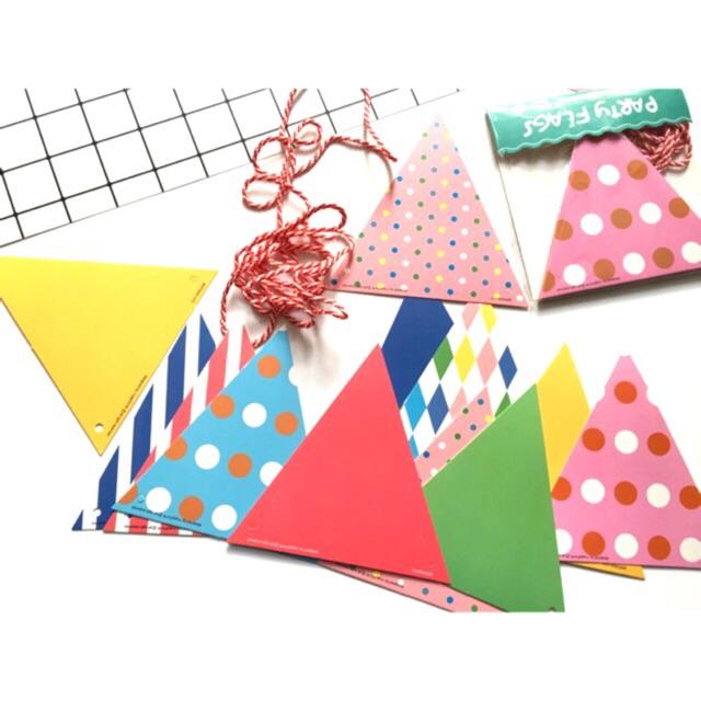 Dây cờ tam giác trang trí sinh nhật, đám cưới,....