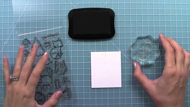 Cán dấu trong suốt (Acrylic block) và mực dấu