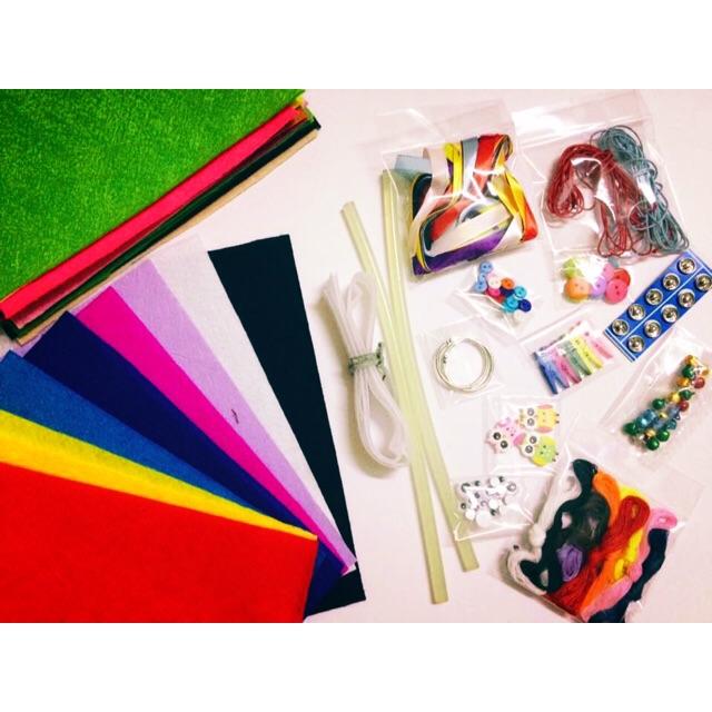 Set nguyên liệu làm sách vải