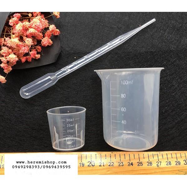 Set 2 cốc đong tặng kèm ống hút