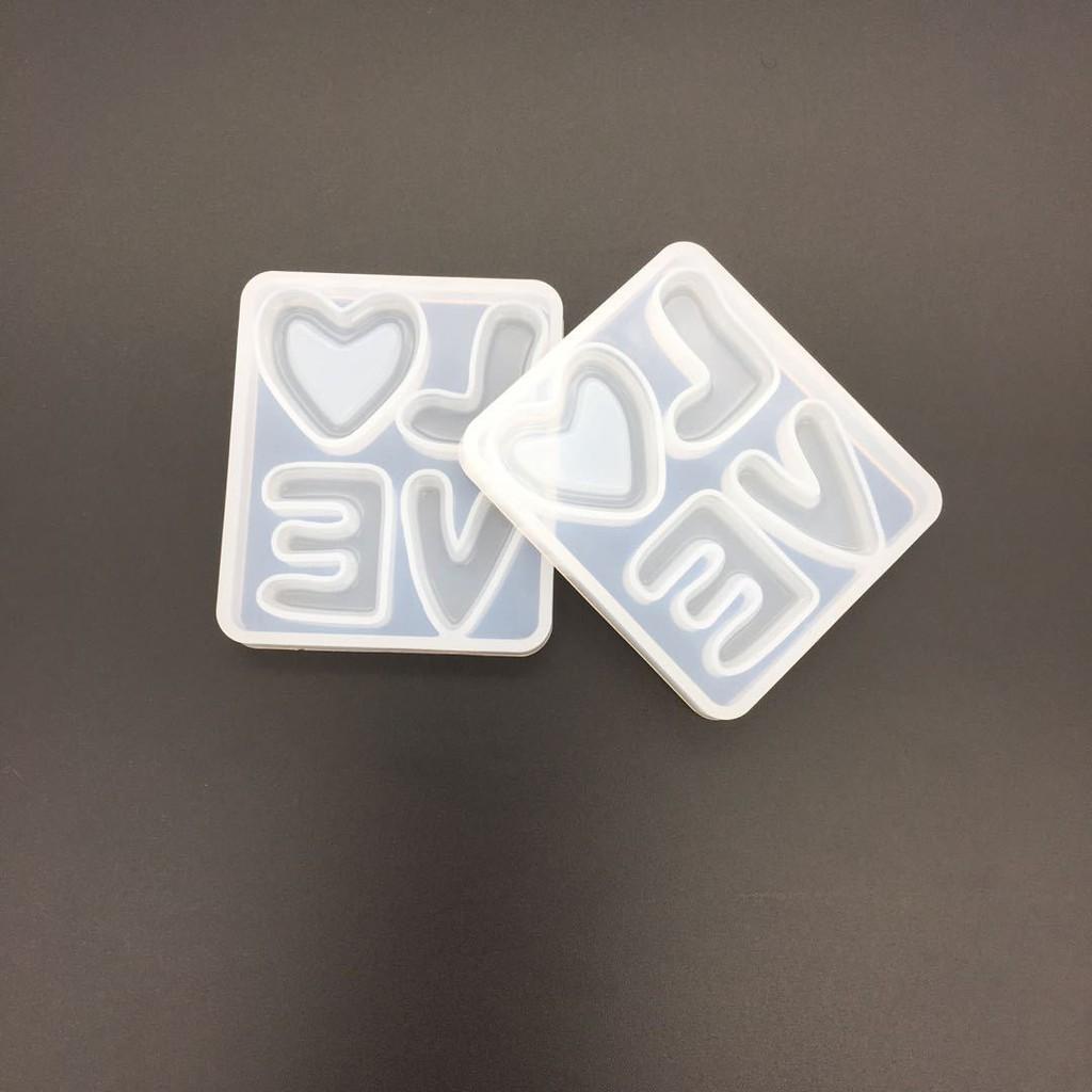 Khuôn silicon chữ love đổ keo AB