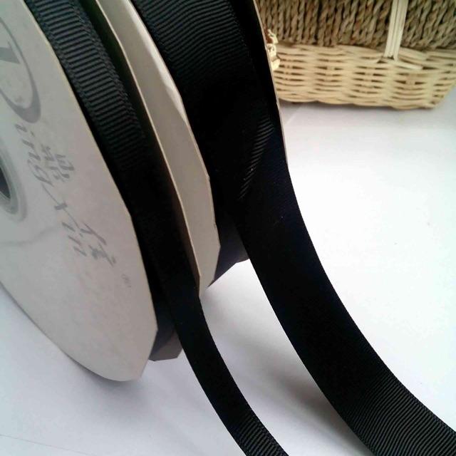 Ruy băng gân đen 1cm, 2cm