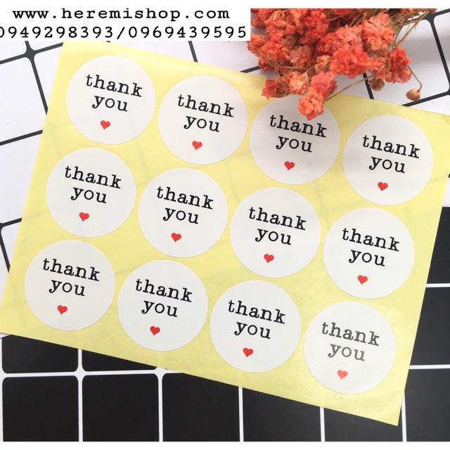 Sticker dán thank you tập 12 tag