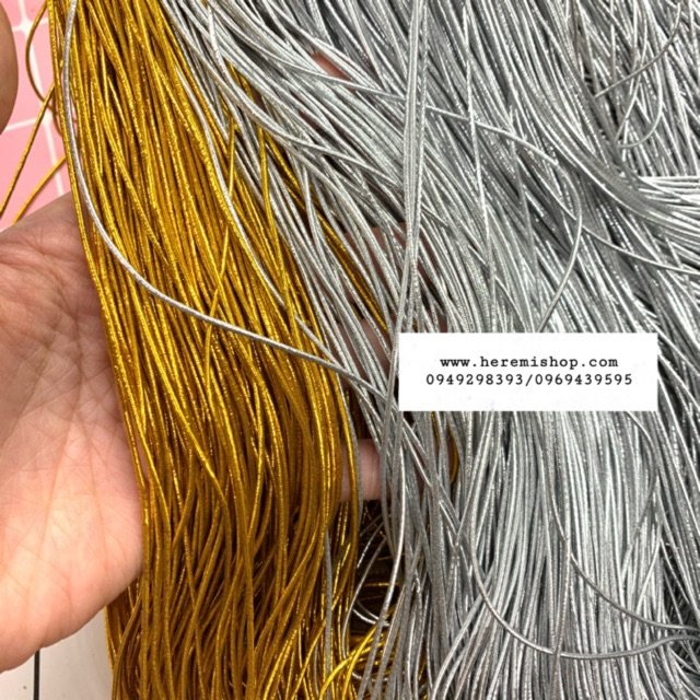 5m dây chun co giãn 1mm kim tuyến