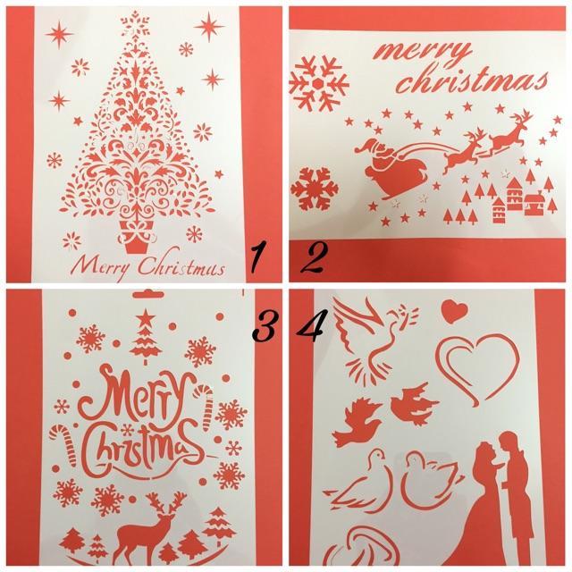 Bộ kê vẽ thiệp Giáng Sinh/Chrismas/Xmas/Love