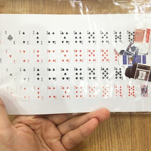 Bộ tú lơ khơ mô phỏng tỷ lệ 1:12 |miniature