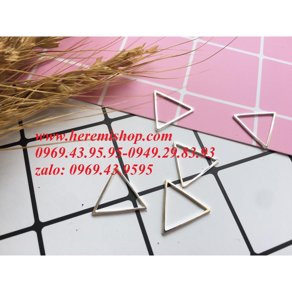 Mặt hình tam giác 5 mặt có sỉ/đồ làm khuyên tai/vòng tay/mặt hình học