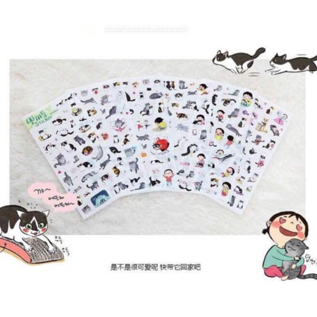 Bộ 6 sticker Mèo
