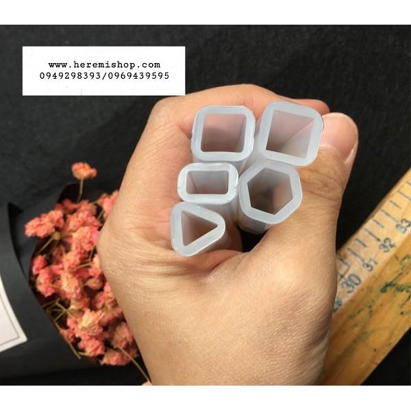 Set 5 khuôn silicon làm dây chuyền