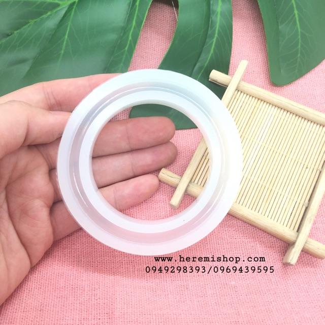 Khuôn silicon làm vòng tay resin 54mm - 58mm - 60mm