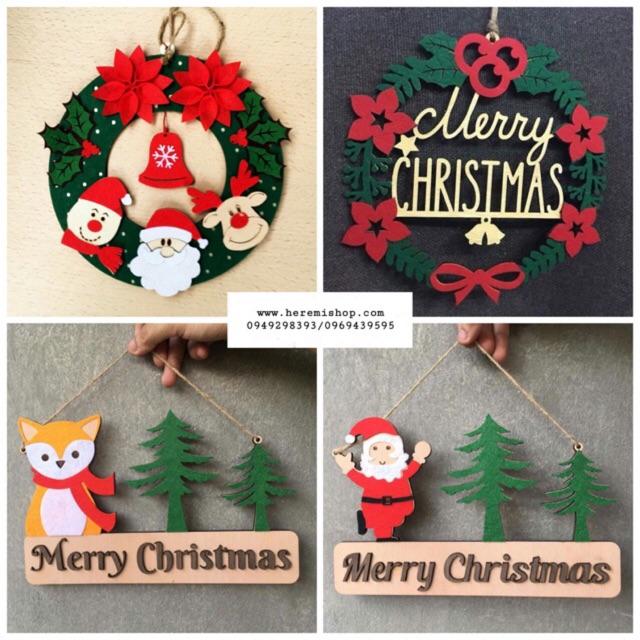 Vòng nguyệt quế Giáng Sinh treo cửa
