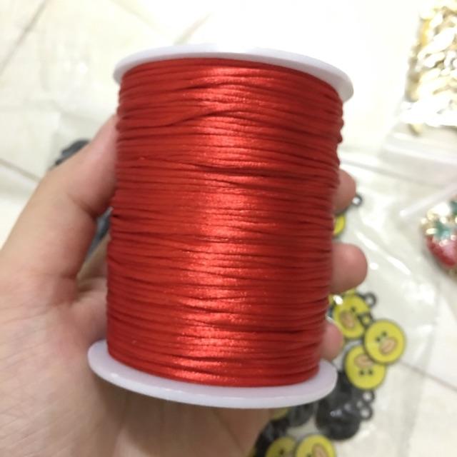 Dây tim đan vòng 1,5mm cuộn 100m (đỏ-đen)