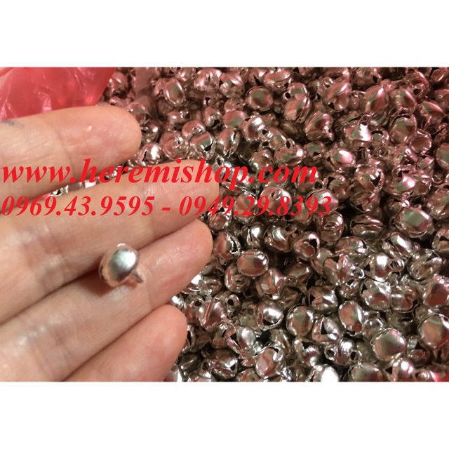 Chuông bạc dẹt 8mm (túi 50 chiếc)