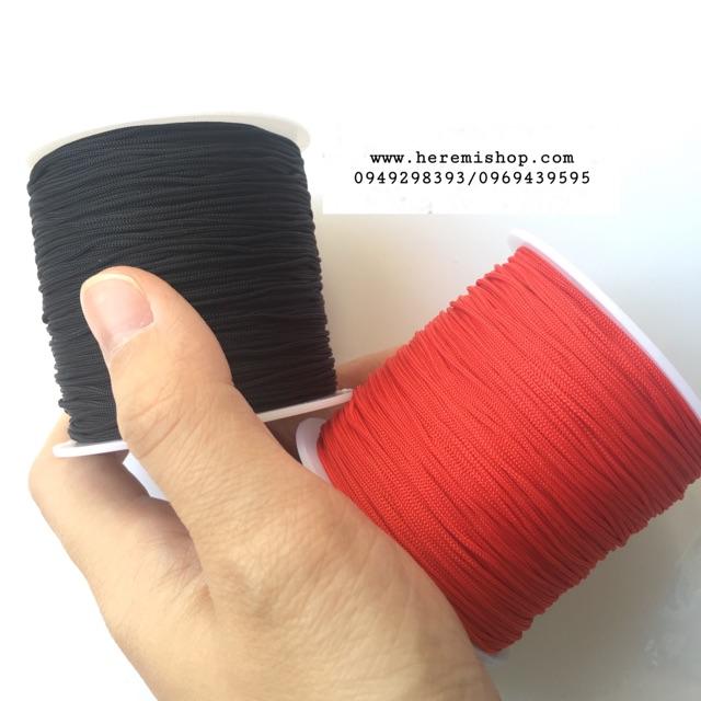 Dây dù/chỉ đỏ đan vòng tay loại đẹp 1mm nguyên cuộn (110m)