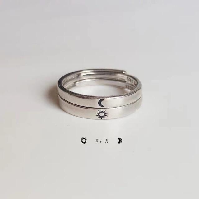 Nhẫn đôi mặt trăng mặt trời