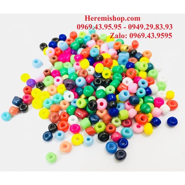 Hạt cườm nhiều màu gói 10g (size 4mm)