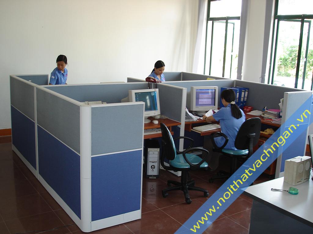Vách ngăn bàn làm việc nỉ-nỉ VNB02NN