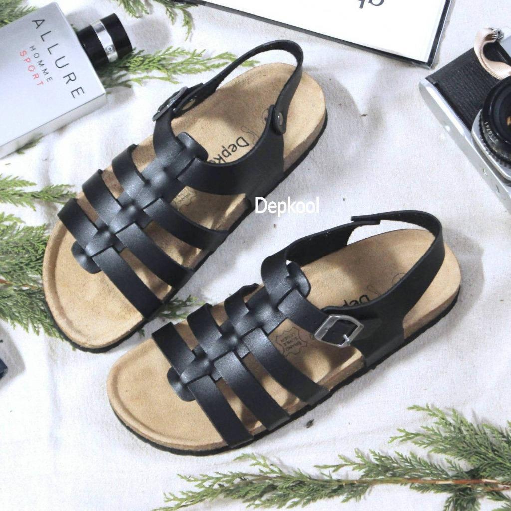 Giày Chiến Bình - đế trấu đen Unisex
