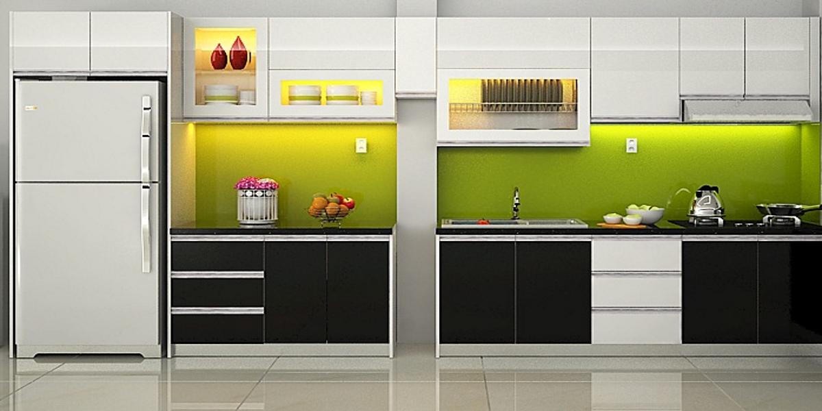 tubepgoacrylicgiaredep01 5340 - Top 35 mẫu tủ bếp gỗ công nghiệp đẹp hiện đại 2019