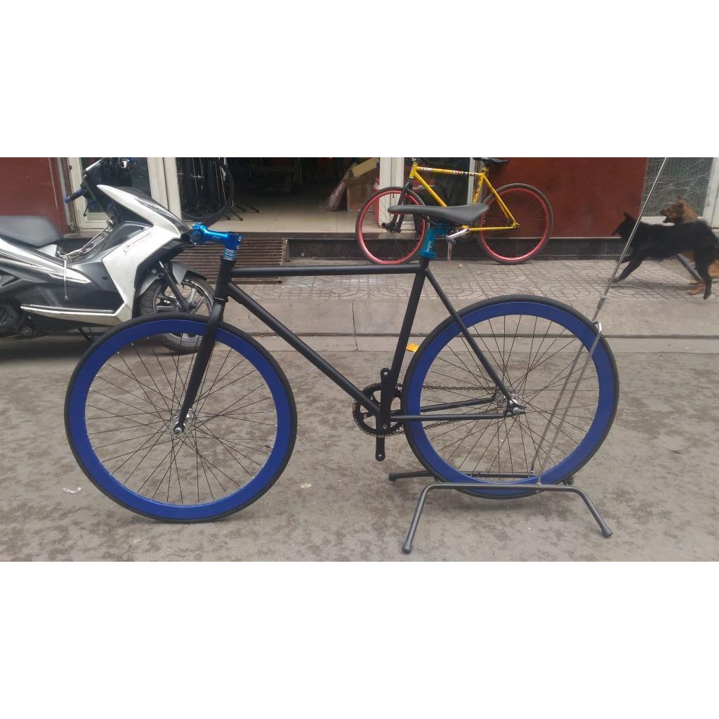 Xe Đạp Fixed Gear - Đen Xanh
