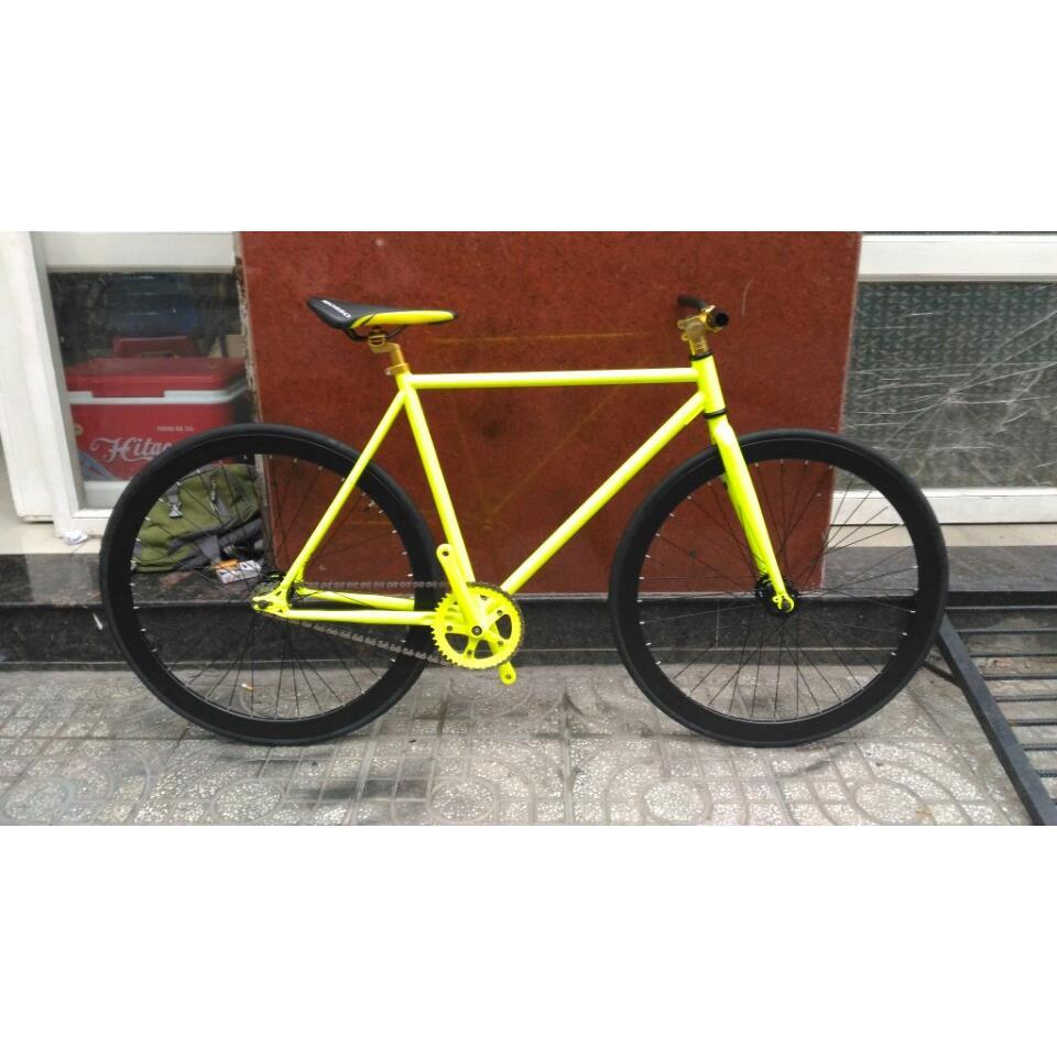 Xe đạp Fixed Gear - Vàng Đen