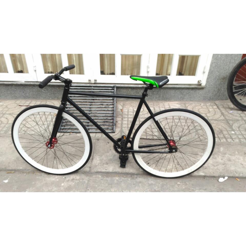 Xe đạp Fixed Gear - Đen Trắng