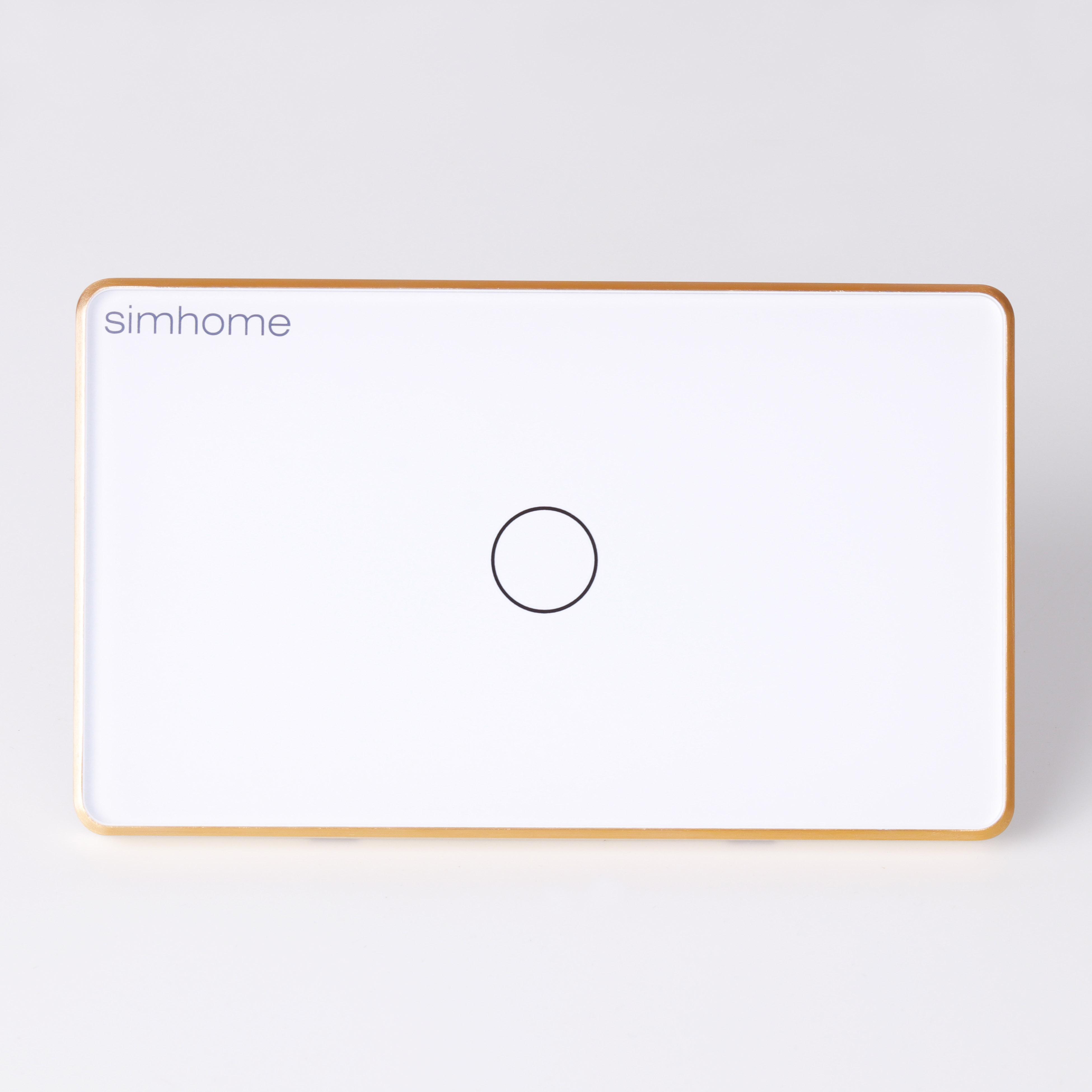 Công tắc Thông minh SimHome S2  Mặt Chữ Nhật - Trắng