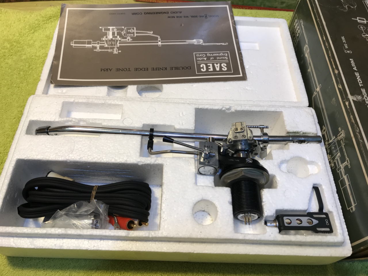 tonearm-saec-we-308l-full-box