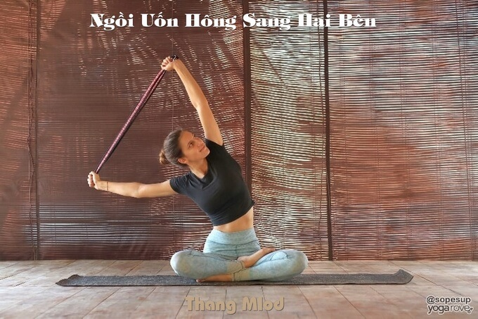 Ngồi Uốn Hông Sang Hai Bên (Parsva Sukhasana - Seated Side Bend Pose)