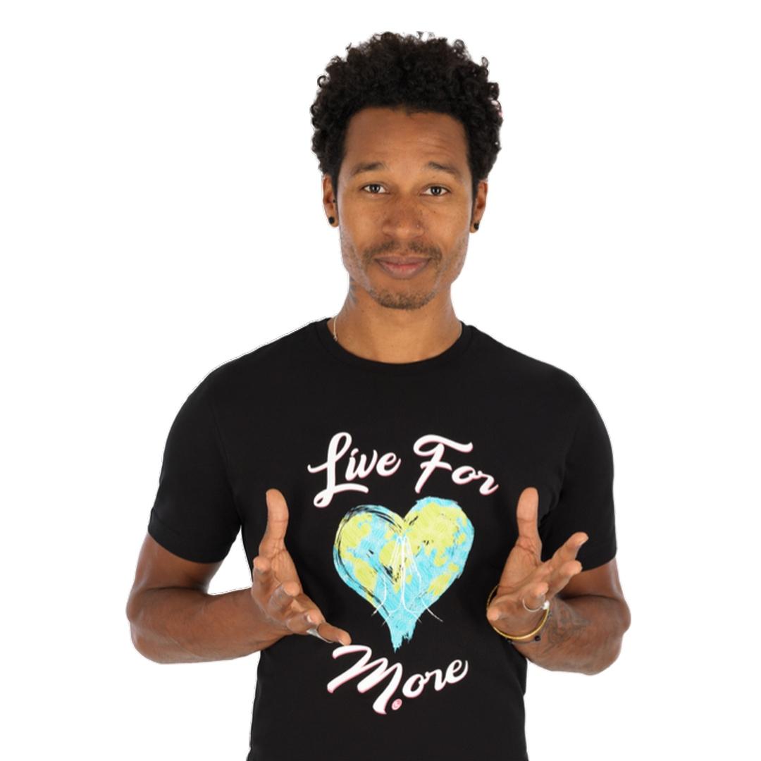 Áo phông nam sợi bông hữu cơ Live For More
