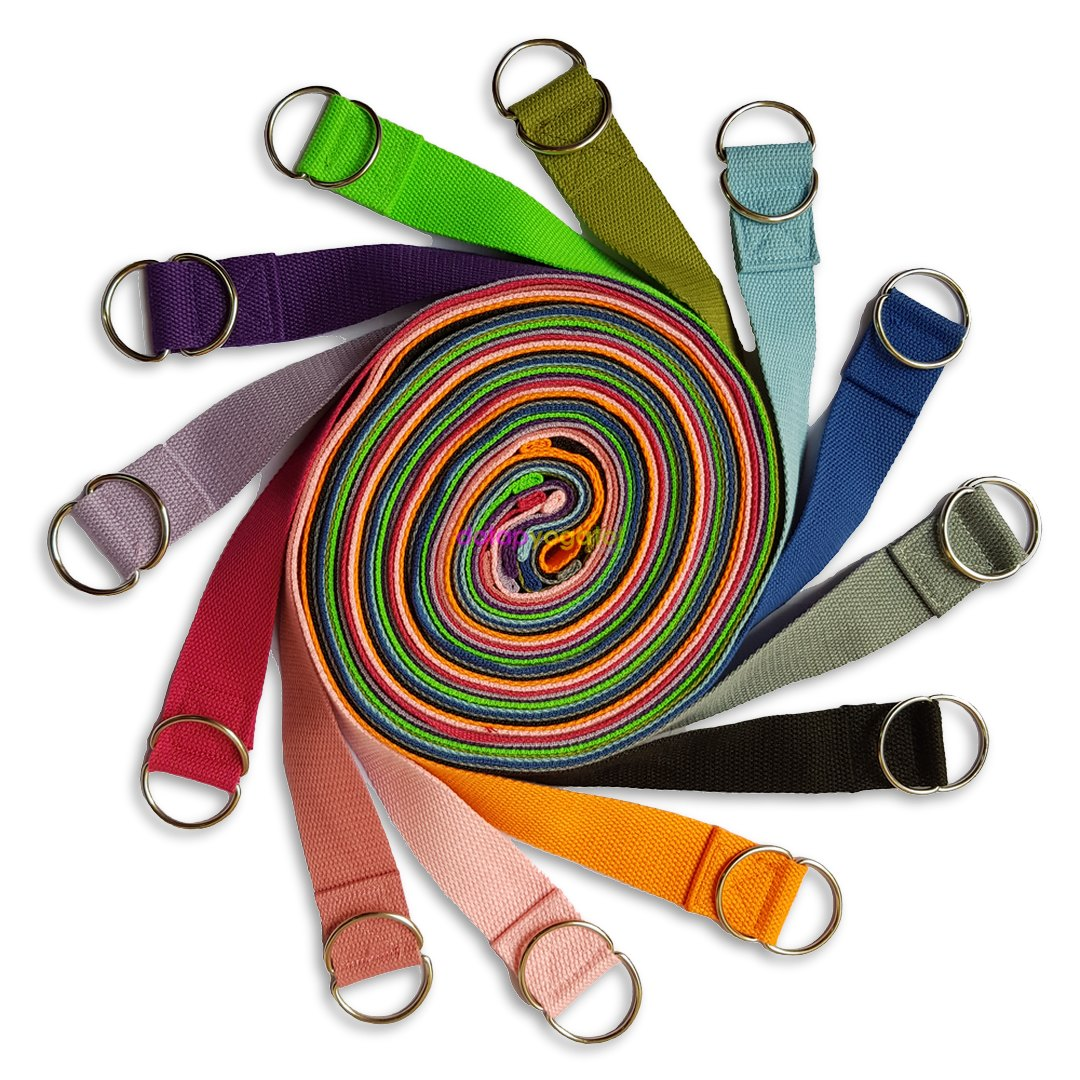 Dây tập yoga sợi cotton 1m8