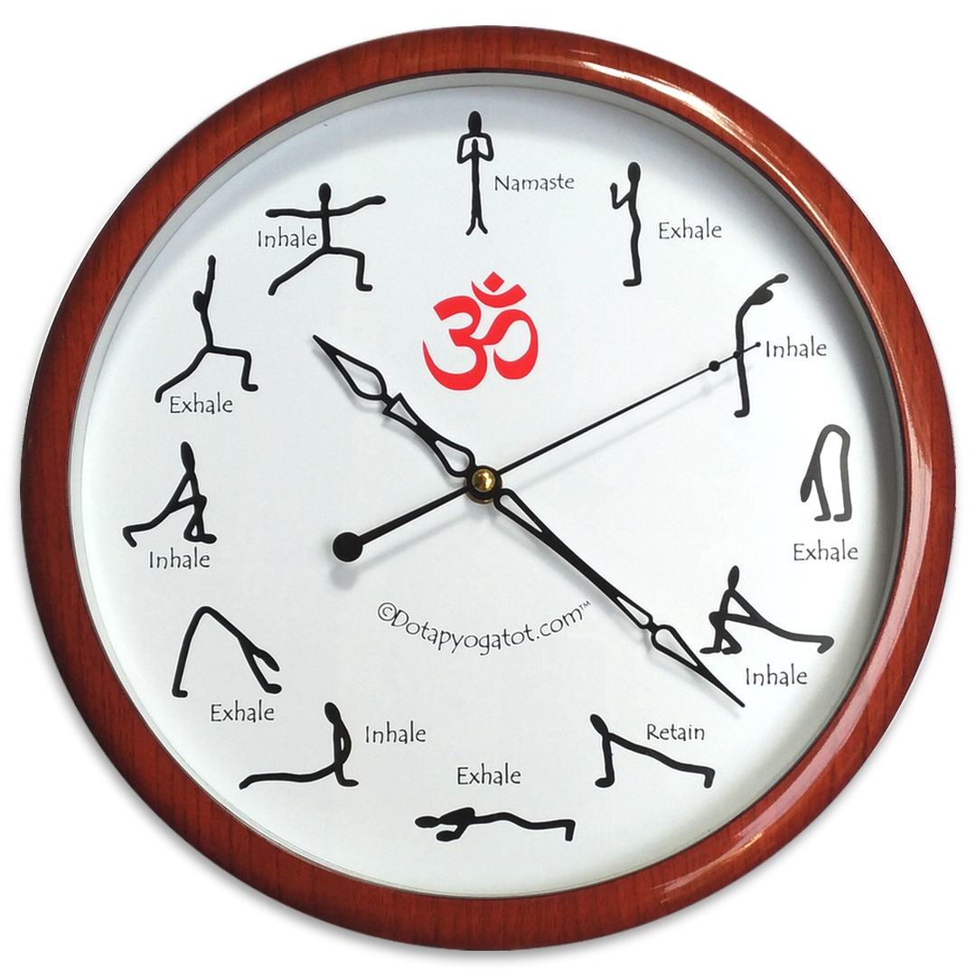 Đồng hồ Yoga Chào mặt trời