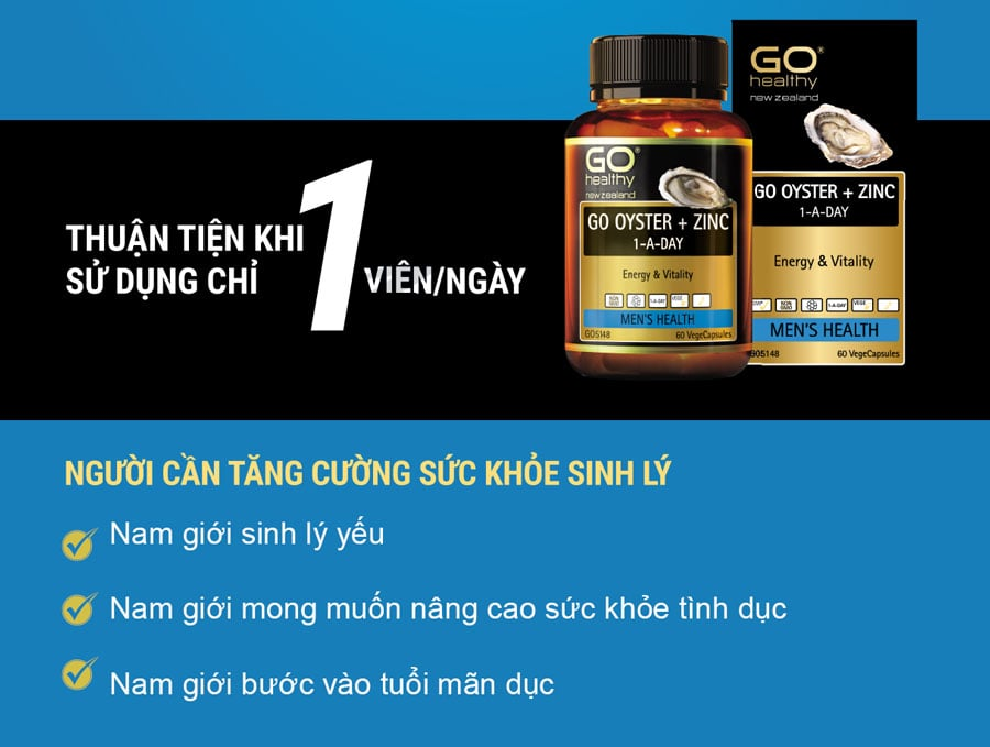 Tinh chất hàu New Zealand GO Oyster Plus Zinc
