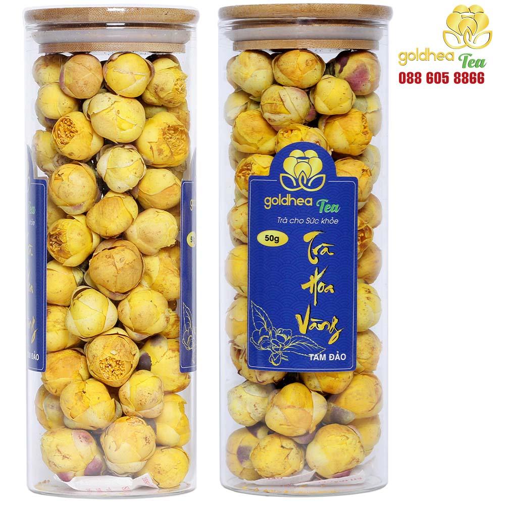 Trà hoa vàng Goldhea Tea hộp 100gr ( Combo 2 lọ)