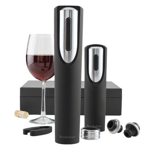 do-khui-mo-ruou-va-hut-chan-khong-ruou-vang-tu-dong-brookstone-wine-gift-set