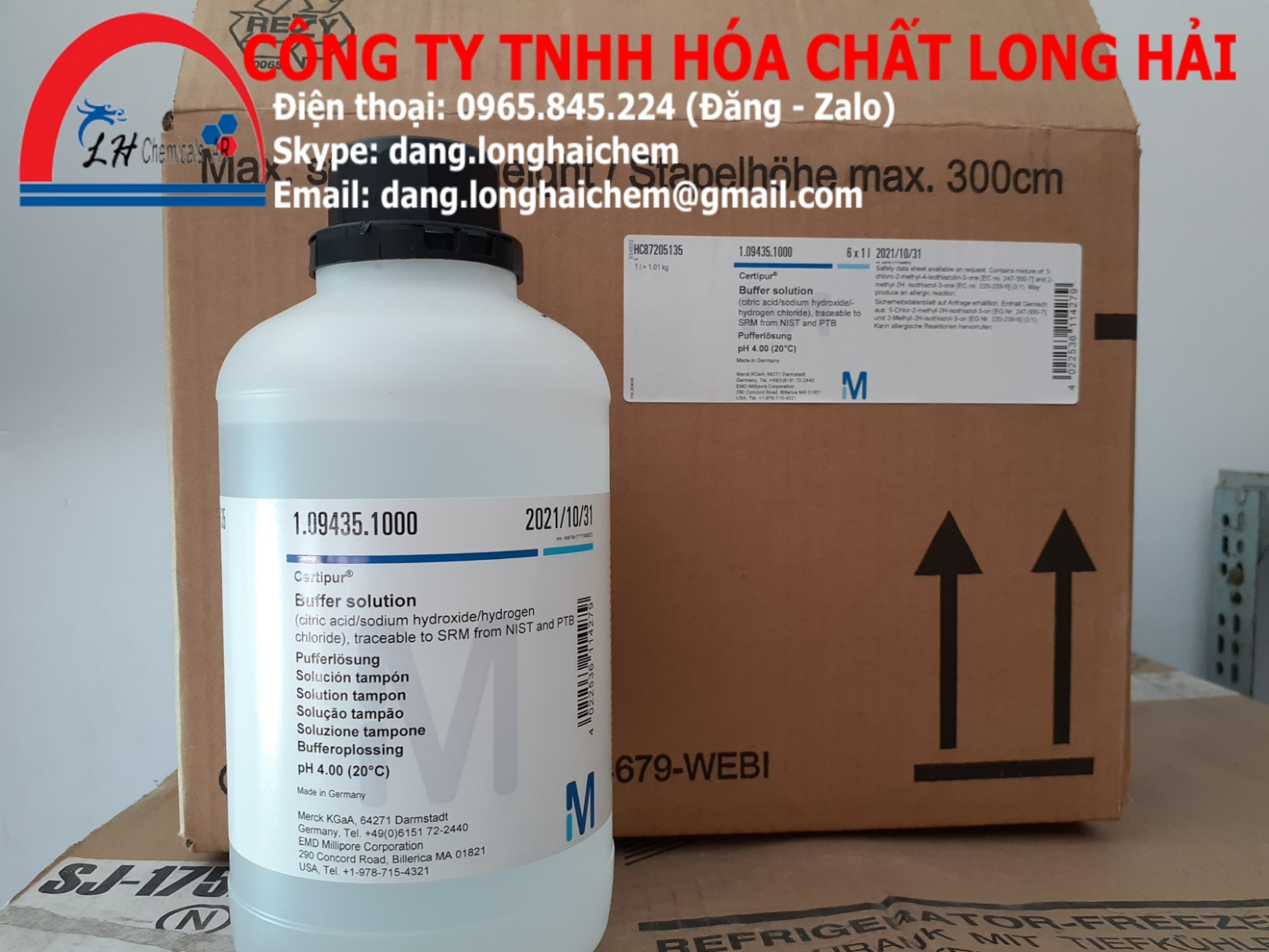 Buffer solution pH 4 (Merck) | 109435