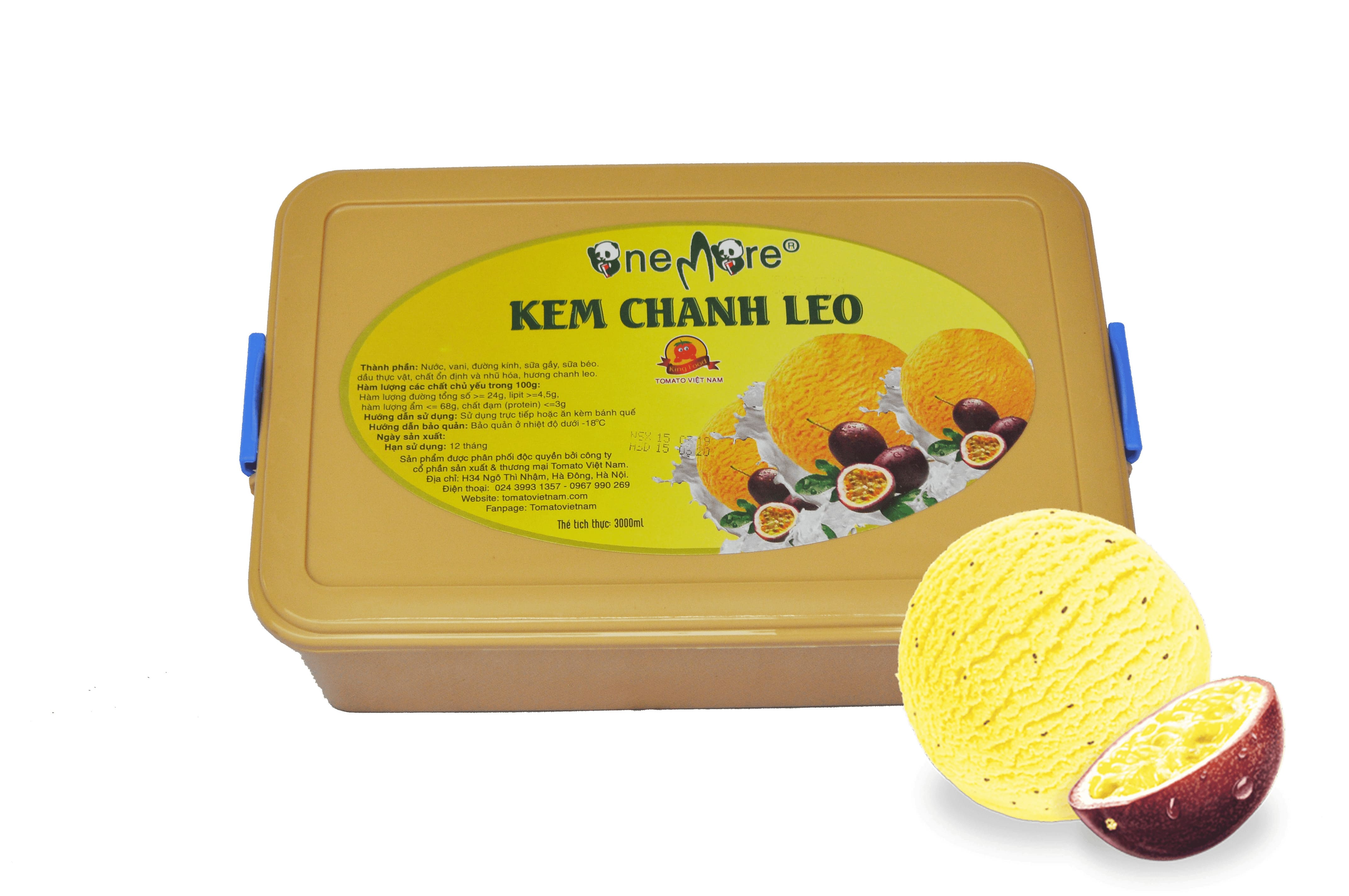 Kem ly OneMore vị Chanh Leo