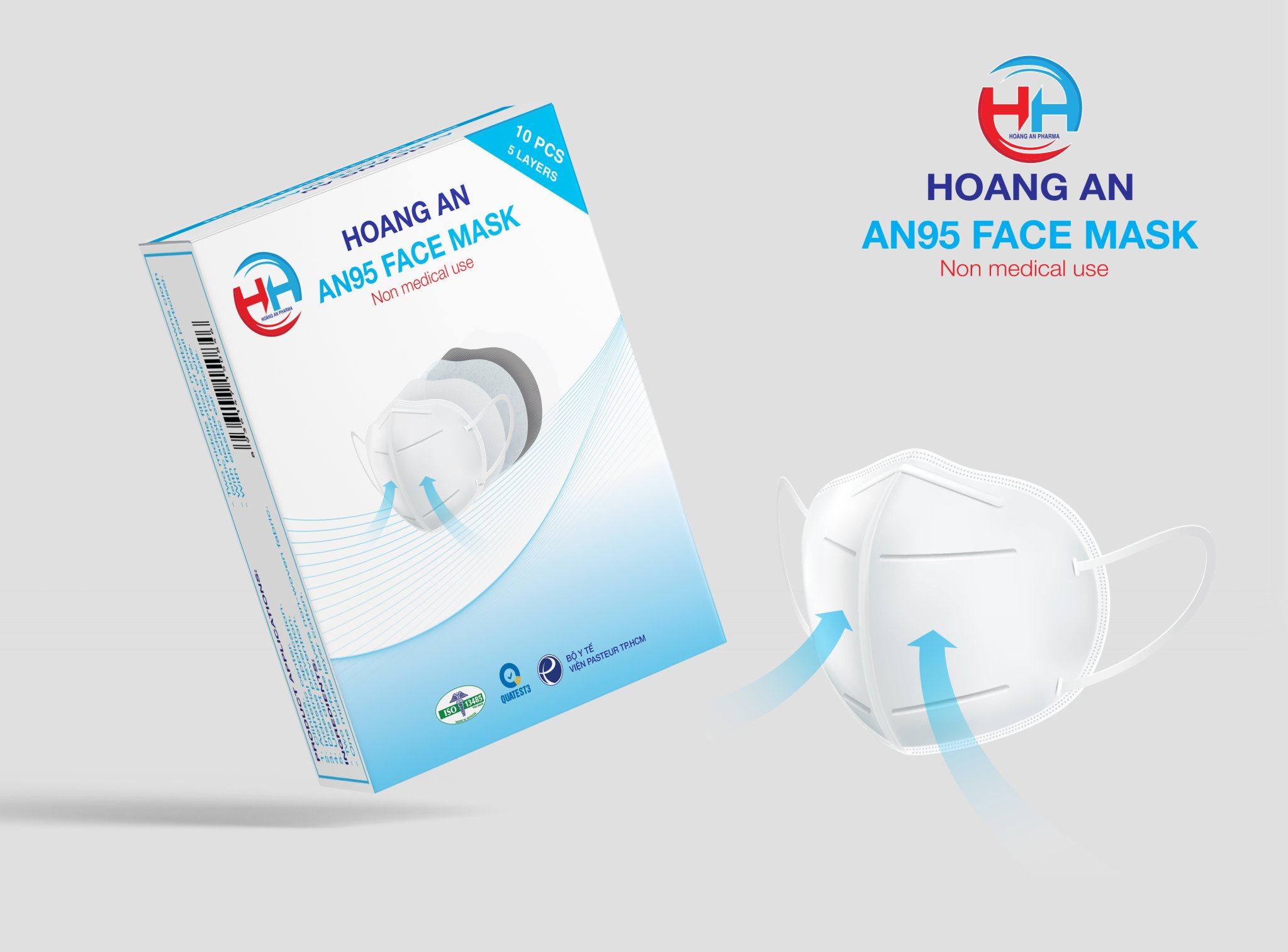 Khẩu trang cao cấp AN95Hoàng An Pharma