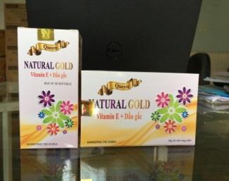 NATURAL GOLD  (Chai 30v nang mềm )