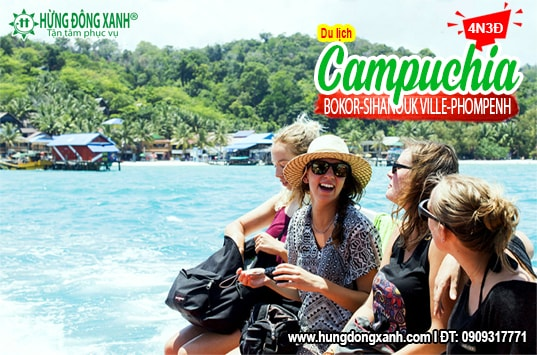 Tour Campuchia: BOKOR-SIHANOUK VILLE-PHOMPENH