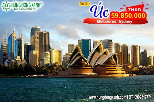 Tour Úc :Tp Hồ Chí Minh / Hà Nội - Melbourne- Sydney ( 7n6đ)