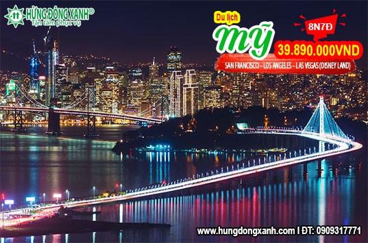 TOUR BỜ TÂY NƯỚC MỸ SAN FRANCISCO – LOS ANGELES – LAS VEGAS (DISNEY LAND)