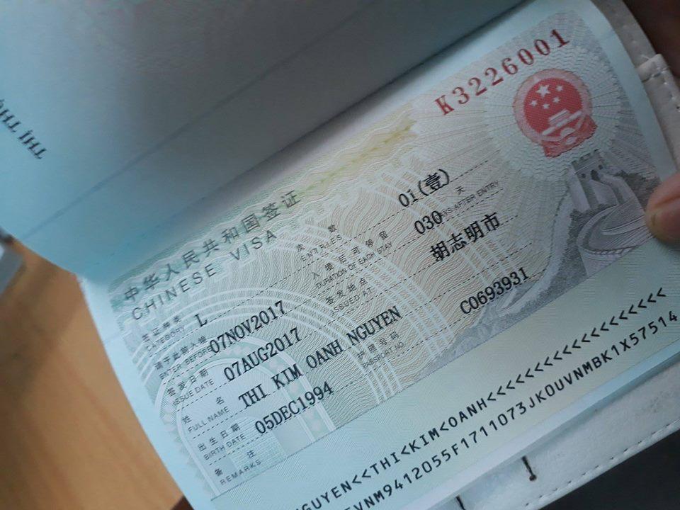 Dịch vụ làm visa đi Trung Quốc 2019