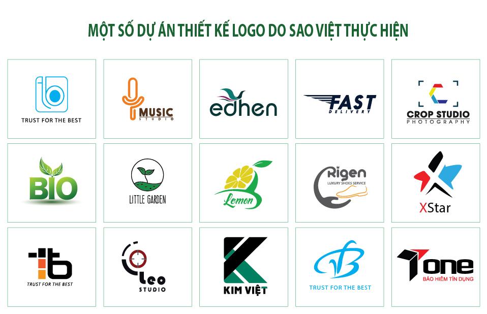 Một số dự án thiết kế logo của Sao Việt